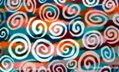 image of Rainbow Spirals - artwork magnets for sale