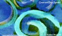 image of Green Spirals - artwork magnets for sale