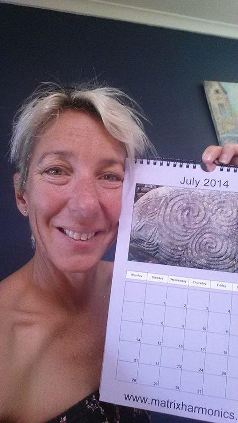 Kym with calendar