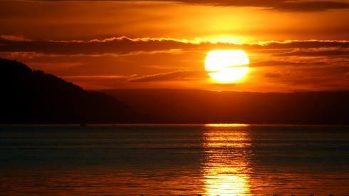 image by paulina of sunset at equinox